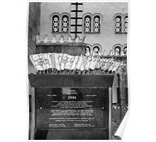Holocaust Memorial, Dohany Street Synagogue, Budapest, Hungary Poster