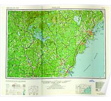 Maine USGS Historical Map Portland 807049 1959 250000 Poster