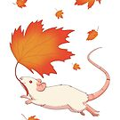 Autumn Leaves (white) by Rapps
