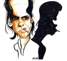 nick cave- pastel,pencil on paper by nicholaslester