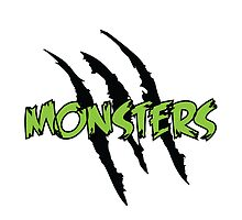 MONSTERS logo green letters by Monsters Dubstep