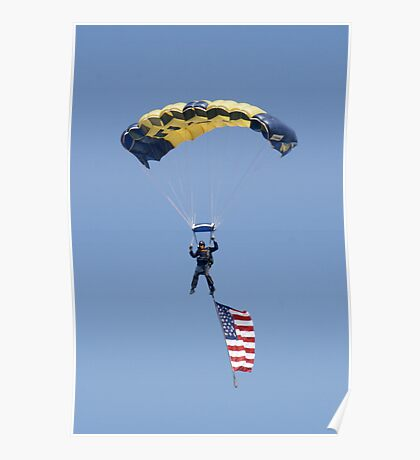 US NAVY LEAP FROG PARACHUTEST Poster