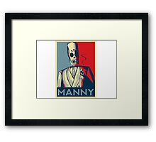 Manny Framed Print