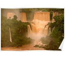 The Red Falls of Iguazu, Argentina/Brazil Border #1 Poster