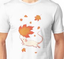 Autumn Leaves (white) Unisex T-Shirt