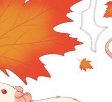 Autumn Leaves (white) Sticker
