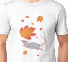 Autumn Leaves (blue) Unisex T-Shirt