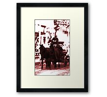 Riding Into Town Framed Print