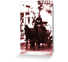 Riding Into Town Greeting Card