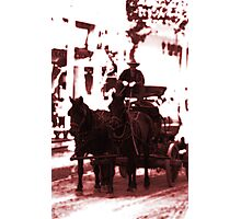 Riding Into Town Photographic Print