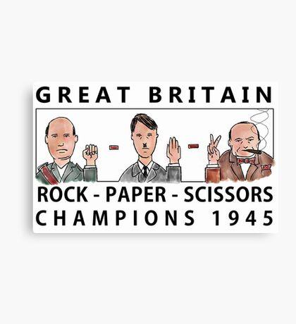 Rock Paper Scissors Champions Canvas Print