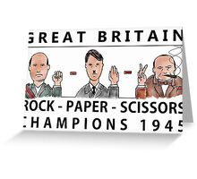 Rock Paper Scissors Champions Greeting Card