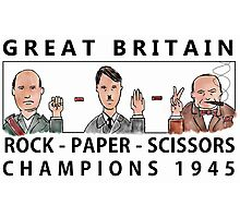 Rock Paper Scissors Champions Photographic Print
