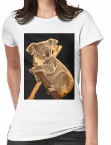 Koala on Branch, Queensland, Australia Womens Fitted T-Shirt