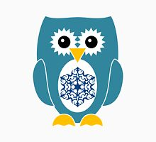 Blue Owl with Snowflake Unisex T-Shirt