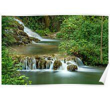 Travertine Falls, Krka National Park, Central Dalmatia, Croatia Poster