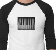snow piano  Men's Baseball ¾ T-Shirt
