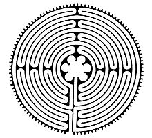Chartres Labyrinth Photographic Print