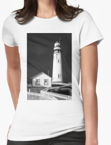 Pigeon Point Lighthouse, Point Arena, Central Coast of California Womens Fitted T-Shirt