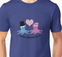 Happy Anniversary! Cute Octopus Couple  Unisex T-Shirt