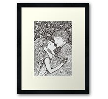 Kiss the Bride Framed Print