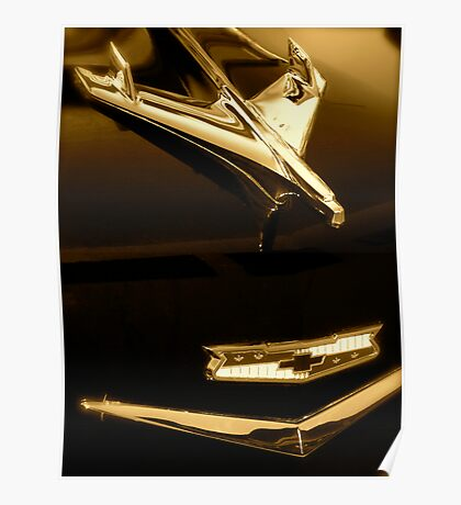 '56 Chevy Hood Ornament Poster