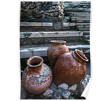 Pots and Steps in Nessebar, the Ancient Capital of Thrace, Bulgaria Poster