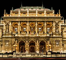 Hungarian State Opera House at Night, Budapest, Hungary by acaldwell