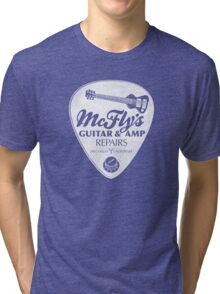 McFly's Repairs - White Tri-blend T-Shirt