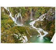 Travertine Falls below Veliki Slap, Plitvice Lakes National Park, Croatia Poster