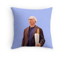Larry David Bread Throw Pillow
