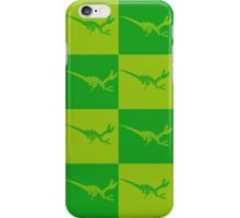 Dinos in Green Squared iPhone Case/Skin