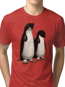 Ad,Lie Penguins Tri-blend T-Shirt