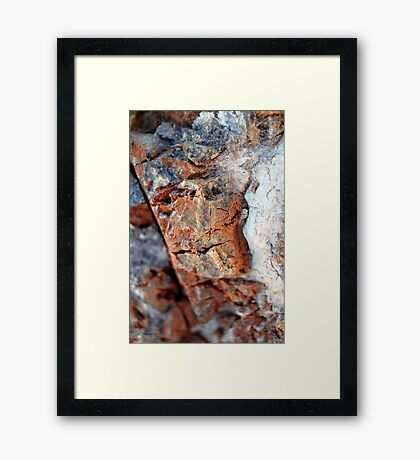 Chiseled Framed Print