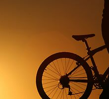 Man & Bike by steviebuk