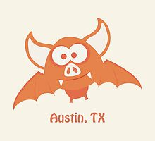 Burnt Orange Bat, Austin Texas by Eggtooth