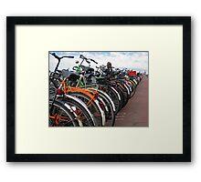 Amsterdam Bikes. Framed Print