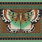 Paisley Butterfly by Kathleen Dupree
