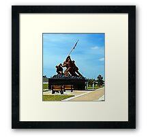 Iwo Jima statue  Framed Print
