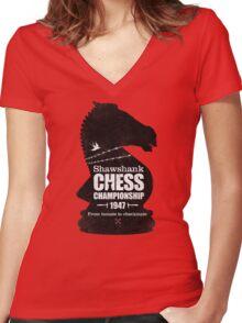 Shawshank Chess Comp Women's Fitted V-Neck T-Shirt