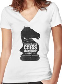 Shawshank Chess Comp Women's Fitted V-Neck T-Shirt