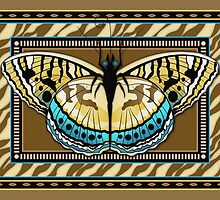 Tiger Stripe Butterfly by Kathleen Dupree