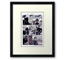 Aitzaz Hasan Hero Comic - Orginal Art Framed Print