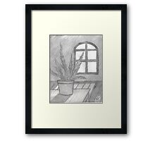FERN IN THE SUNLIGHT IMPOSED Framed Print