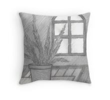 FERN IN THE SUNLIGHT IMPOSED Throw Pillow