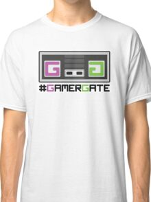 Pink and Green #GamerGate NES Controller Classic T-Shirt