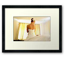 Yellow curtain Framed Print
