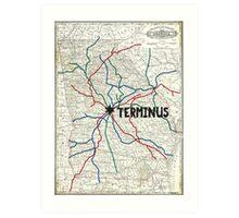 The Walking Dead - Terminus Map Art Print