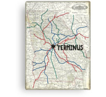 The Walking Dead - Terminus Map Canvas Print