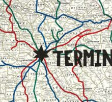 The Walking Dead - Terminus Map Sticker